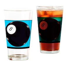 eight_ball_light_blue Drinking Glass