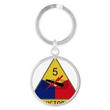 5th Armored Division - Victory Round Keychain