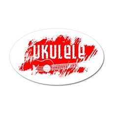 Red Ukulele Uke Wall Decal