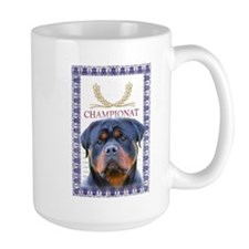 Cute Rottweiler head Mug