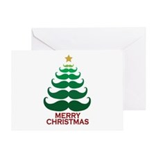 Moustache Christmas Tree Greeting Card