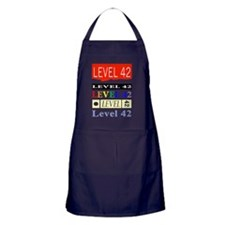 Level42 Classic Wembley86 front Apron (dark)