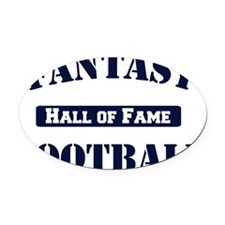 Fantasy-Football-Hall-of-Fame Oval Car Magnet