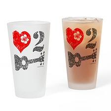 Love 2 Ukulele Drinking Glass