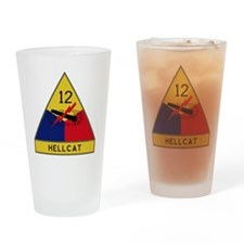 12th Armored Division - Hellcat Drinking Glass
