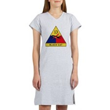 13th Armored Division - Black C Women's Nightshirt