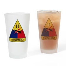 11th Armored Division - Thunderbolt Drinking Glass