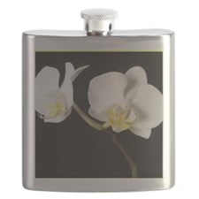 WhiteOrchidBorder Flask