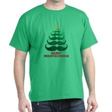 Moustachemas Christmas Tree T-Shirt