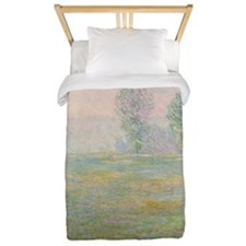 Meadows in Giverny,  by Monet Twin Duvet