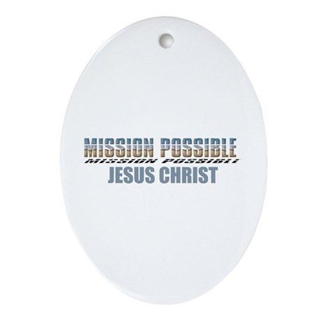 Mission Possible Oval Ornament