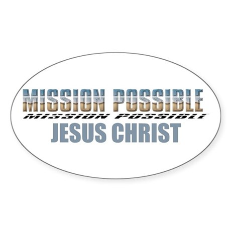 Mission Possible Oval Sticker