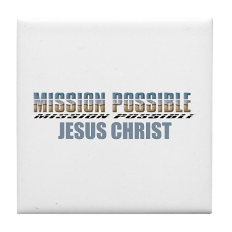 Mission Possible Tile Coaster