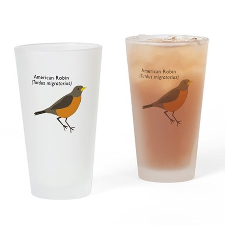 american robin Drinking Glass