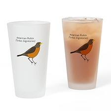american robin Drinking Glass