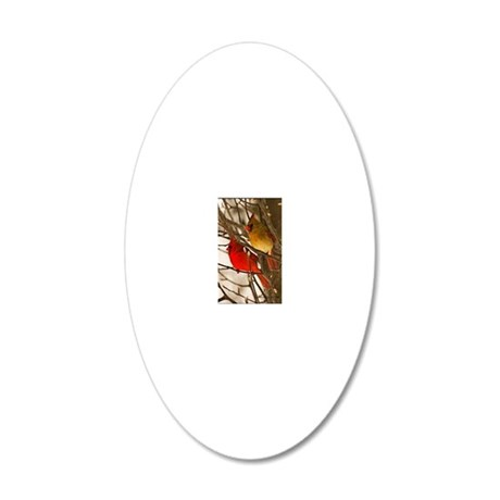 cardinals2poster 20x12 Oval Wall Decal