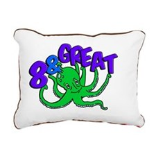 8 Year Old Octopus Shirt Rectangular Canvas Pillow