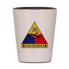 30th Armored Division - Volunteers Shot Glass