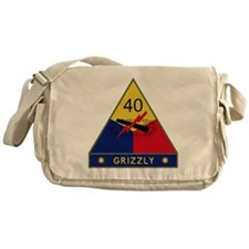 40th Armored Division - Grizzly Messenger Bag