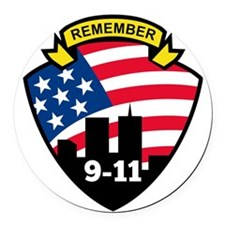 9-11 World Trade Center American  Round Car Magnet