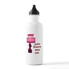 lamp_pink Water Bottle