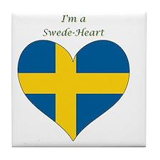 SwedeHeart-sq Tile Coaster
