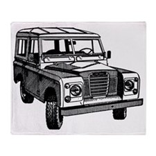 autonautonaut-land-rover-series-illu Throw Blanket