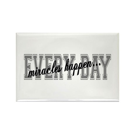 Miracles Happen Rectangle Magnet (100 pack)