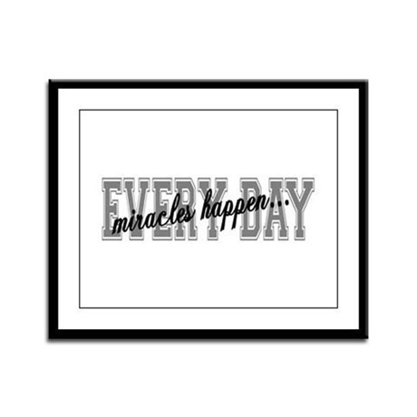 Miracles Happen Framed Panel Print