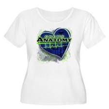Greys Anatomy Women's Plus Size Scoop Neck T-Shirt