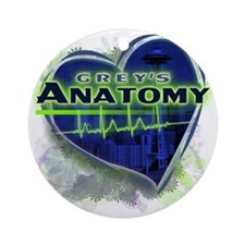 Greys Anatomy TV Fan Round Ornament