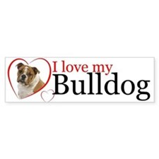 Love a Bulldog Bumper Sticker