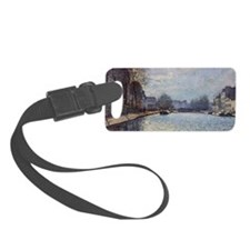 View of the Canal Saint-Martin,  Small Luggage Tag