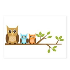 brown-owl-family2 Postcards (Package of 8)