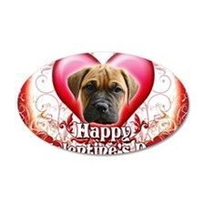 Happy Valentines Day Bull Ma Wall Decal
