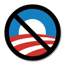 Obama Logo Crossed 5000px 0f Round Car Magnet