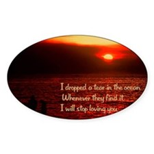 Tear in the ocean18x12 Decal