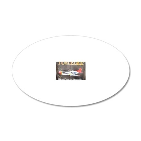 Tuskegee P-51 Lucifer 20x12 Oval Wall Decal