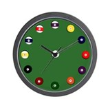 &quot;Billiard Balls&quot; Wall Clock