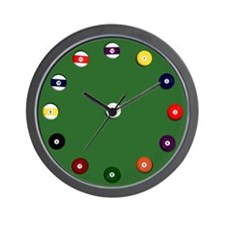 """Billiard Balls"" Wall Clock"