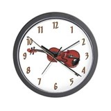 """Violin & Bow"" Wall Clock"