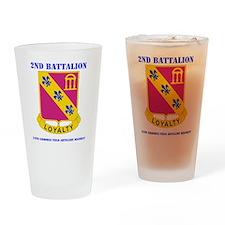 DUI - 2-319th Field Artillery Regim Drinking Glass