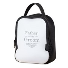 Father of the Groom silver Neoprene Lunch Bag