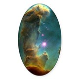 HUBBLE TELESCOPE IMAGE Oval Decal