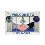 Welcome to a Masons home Rectangle Magnet (100 pa