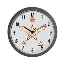 """Elemental Pentagram"" Wall Clock"