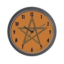 """Earthy Pentagram"" Wall Clock"