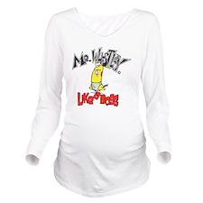 mr. W, no BG Long Sleeve Maternity T-Shirt