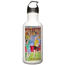 tennis frame print Sports Water Bottle