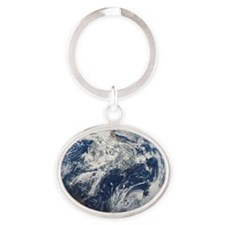 i4slidrearthinspace Oval Keychain